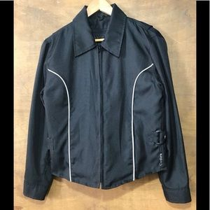 Zip-out inner vest motorcycle jacket